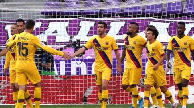 Lionel Messi gana el séptimo título anotador en la liga española