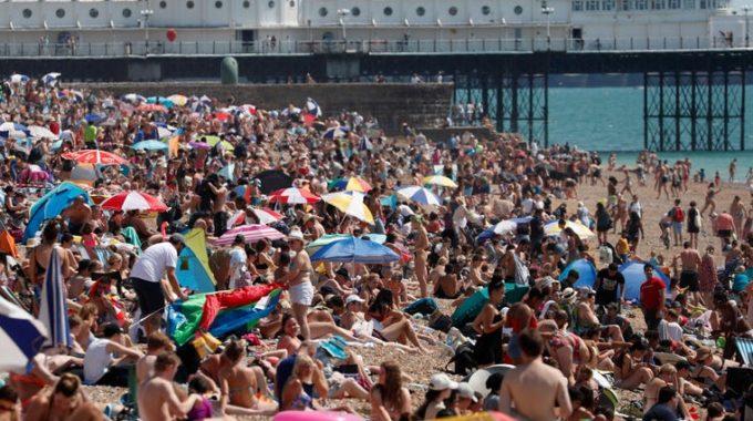 España establece récords de temperatura, Reino Unido ve el día más caluroso de 2020
