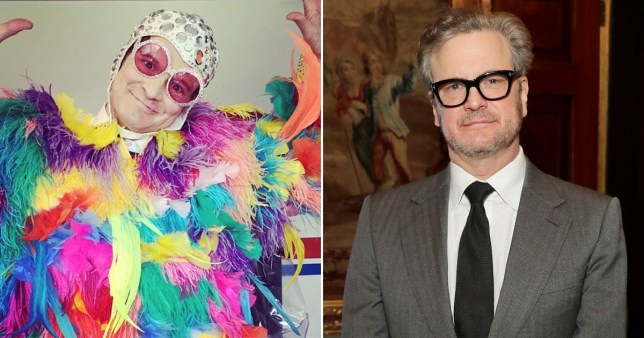 Colin Firth vestido como Sir Elton John es todo lo que siempre quisimos cuando cumple 60 años
