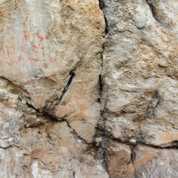 Huellas dactilares estudiadas en un sitio de arte rupestre en España