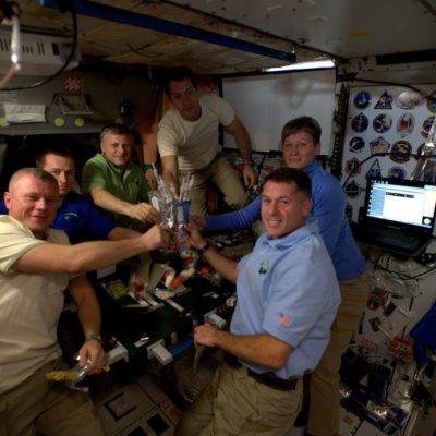 Acción de Gracias a bordo de la Estación Espacial Internacional