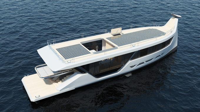 """Este concepto de """"Smartyacht"""" eléctrico de 85 pies navega solo con su teléfono inteligente"""