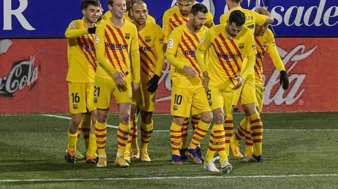 Messi juega 750 con el Barça, Suárez lidera la victoria del Atlético