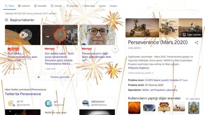 Búsqueda de Google celebra el aterrizaje de la perseverancia de la NASA en Marte