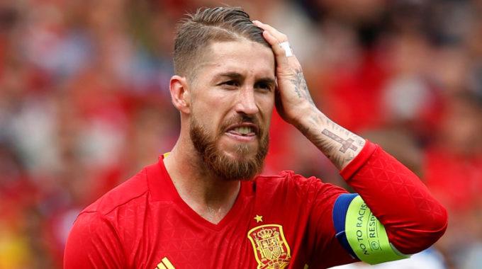 Sergio Ramos de Real Madrid se fue de la escuadra de 2020 euros de España