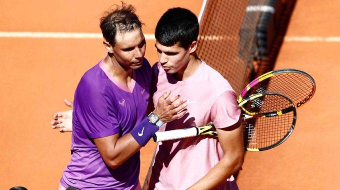 Rafael Nadal supera a la sensación adolescente Carlos Alcaraz en el Madrid Open