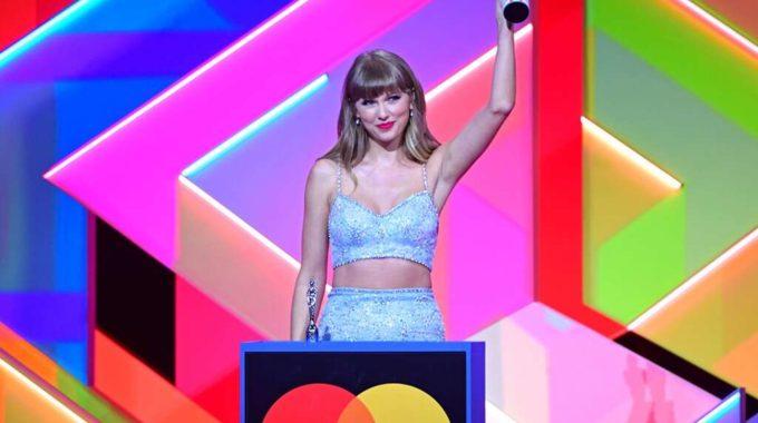Taylor Swift honrada en los BRIT Awards con el premio global icon